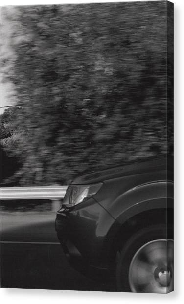 Wheel Blur Photograph Canvas Print