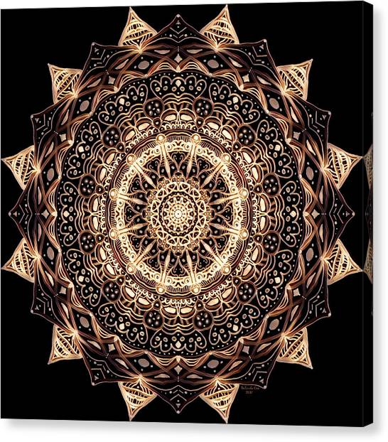 Wheel Of Life Mandala Canvas Print