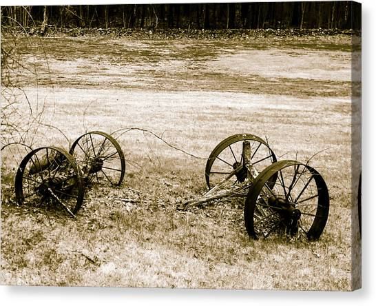 Canvas Print featuring the photograph Wheels Of The Past by Robert McKay Jones