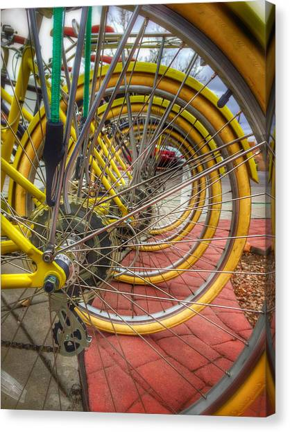 Wheels Within Wheels Canvas Print