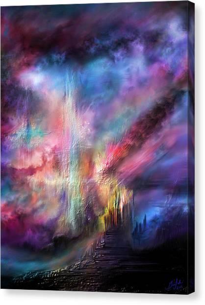 Angel Falls Canvas Print - When Angels Fall by Glen Sande
