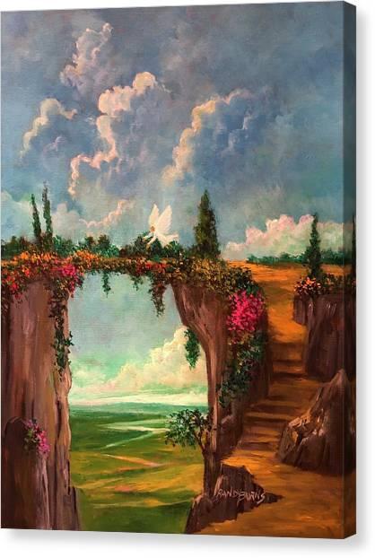 When Angels Garden In Heaven Canvas Print