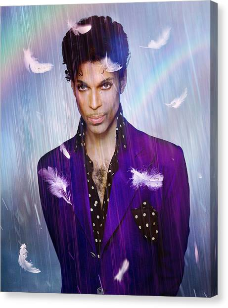Prince Canvas Print - When Doves Cry by Mal Bray
