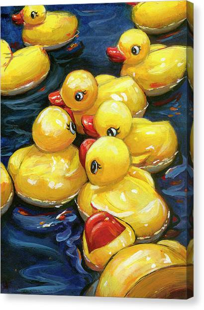 When Ducks Gossip Canvas Print