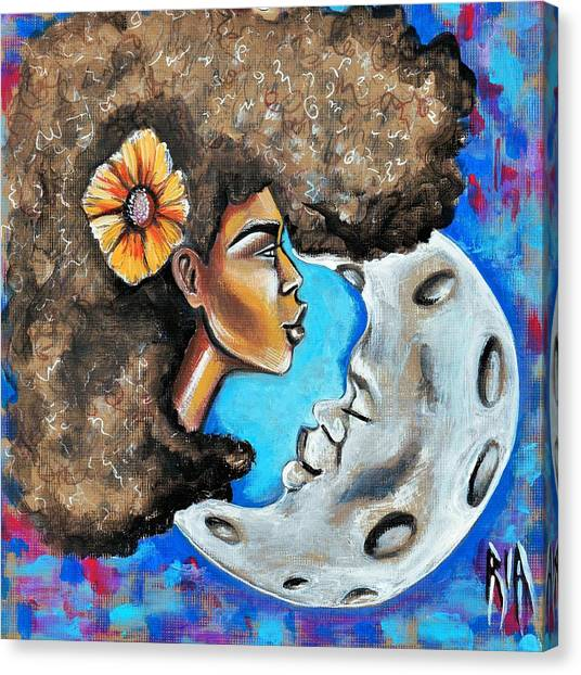 Canvas Print - When He Gave You The Moon by Artist RiA