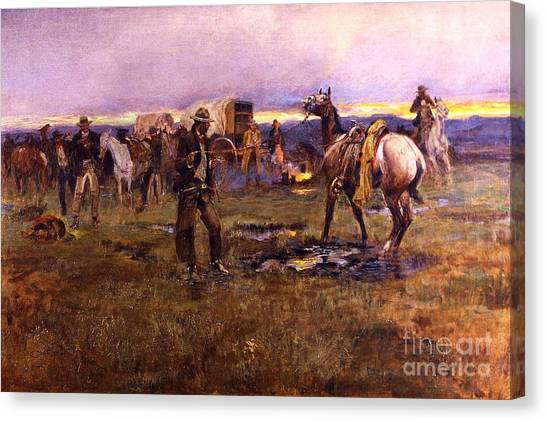 When Horses Talk Slim Chance For Truce Canvas Print