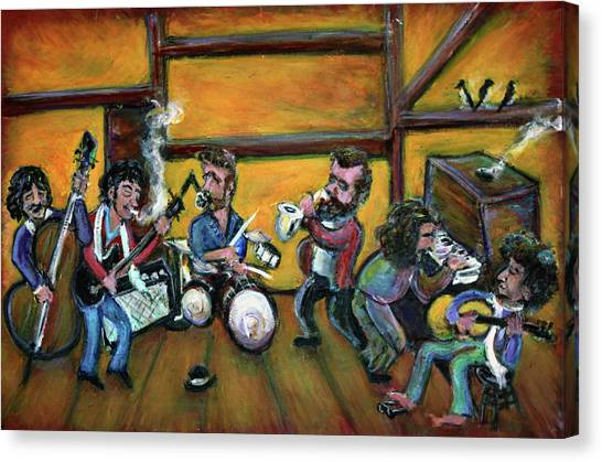 Bob Dylan Canvas Print - When I Paint My Masterpiece by Jason Gluskin