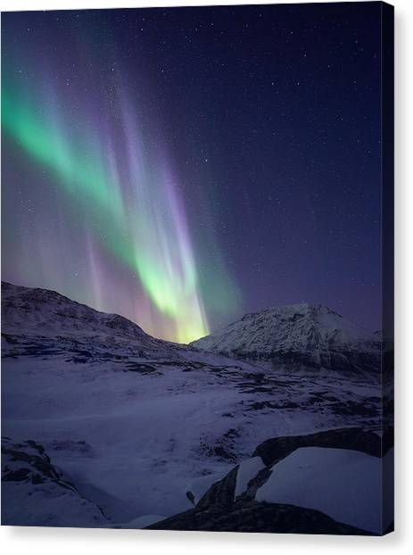 Aurora Borealis Canvas Print - When It All Falls Down by Tor-Ivar Naess