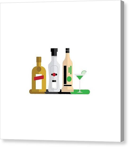Martini Canvas Print - When It's Sunny Outside Everyone by Avnish Panesar