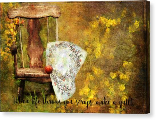 When Life Throws You Scraps, Make A Quilt Canvas Print