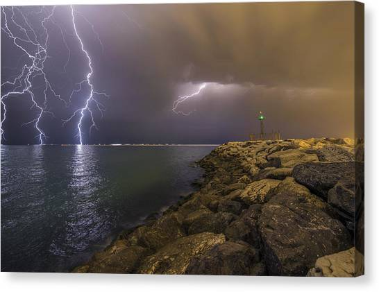 Iranian Canvas Print - When Lightning Strikes by Mehdi Momenzadeh