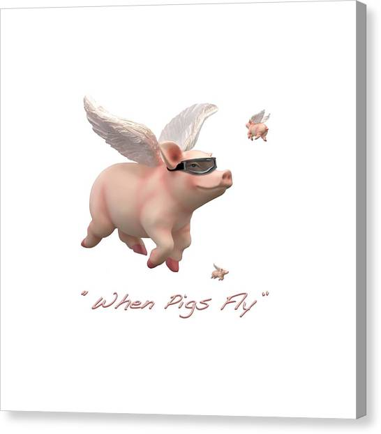Imaginative Canvas Print - When Pigs Fly by Mike McGlothlen