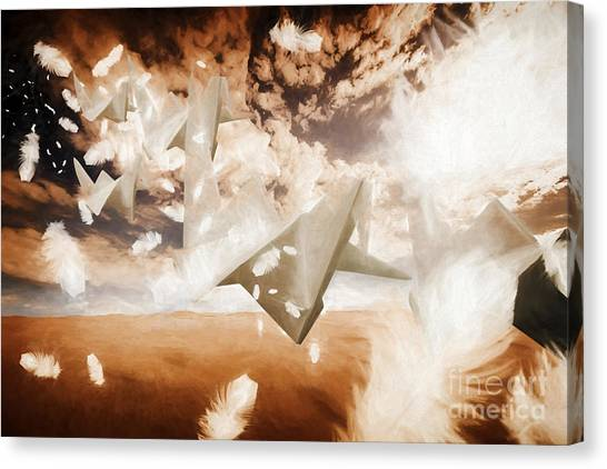Paper Planes Canvas Print - When Poets Dream  by Jorgo Photography - Wall Art Gallery