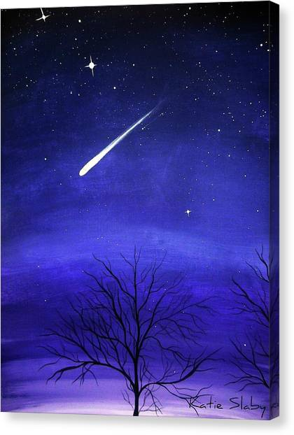 Shooting Stars Canvas Print - When Stars Fall by Katie Slaby