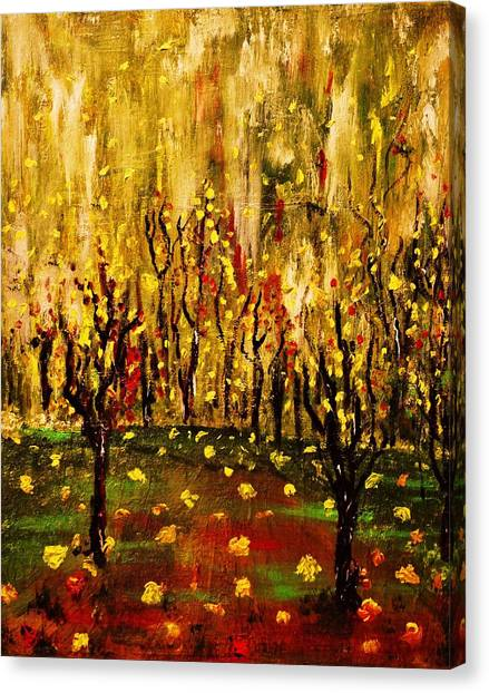 When The Leaves Falls Canvas Print