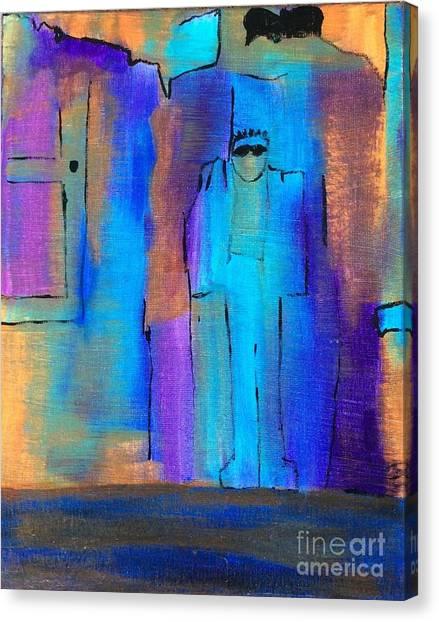 When The Lines Blur Canvas Print
