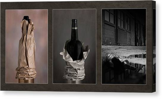 Drunk Canvas Print - When The Party Ends by Tom Mc Nemar