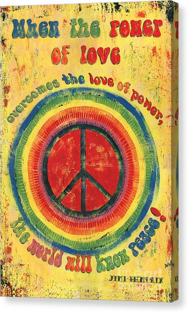 Type Canvas Print - When The Power Of Love by Debbie DeWitt