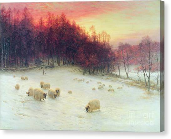 Meadow Canvas Print - When The West With Evening Glows by Joseph Farquharson