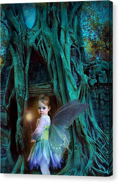 Fairy Canvas Print - When Twilight Fades by Jean Hildebrant