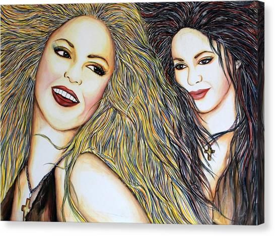 Shakira Canvas Print - Whenever Wherever by Joseph Lawrence Vasile