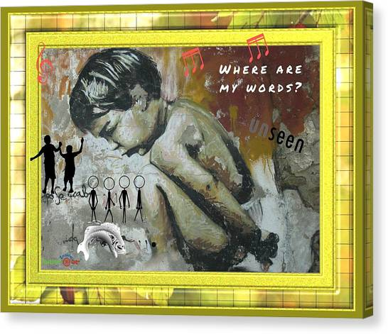 Where Are My Words? Canvas Print