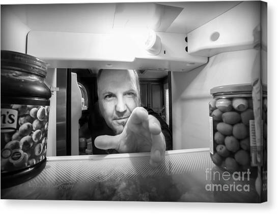 Mayonnaise Canvas Print - Self Portrait - Where Are The Pickles? by Kip Krause