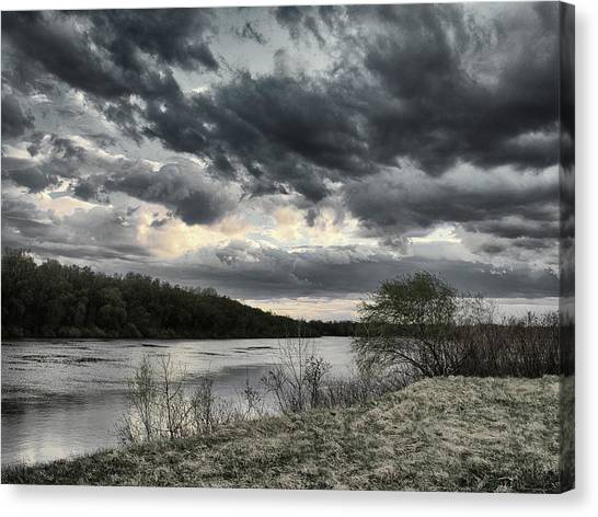 Where Clouds Flow... Horytsya, 2018. Canvas Print