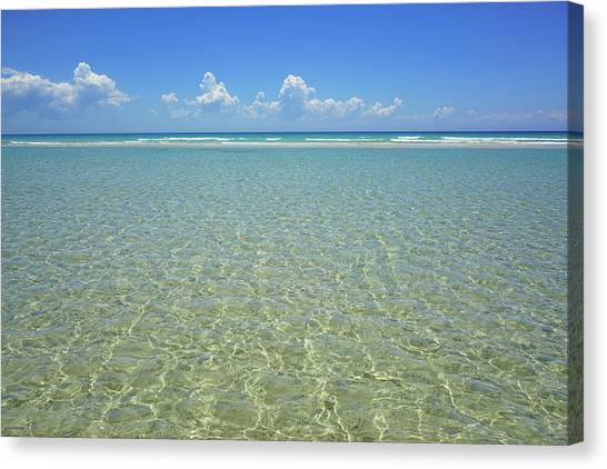 Where Crystal Clear Ocean Waters Meet The Sky Canvas Print