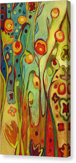 Vivid Canvas Print - Where Does Your Garden Grow by Jennifer Lommers