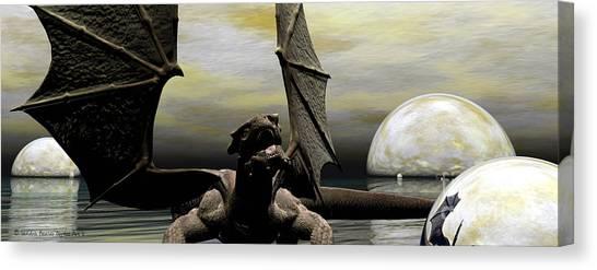 Where Dragons Be Canvas Print by Sandra Bauser Digital Art