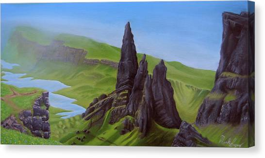 Where Giants Roam The Skye Canvas Print