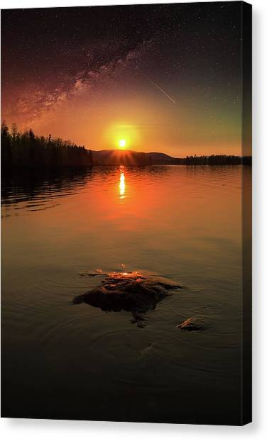 Where Heaven Touches The Earth Canvas Print
