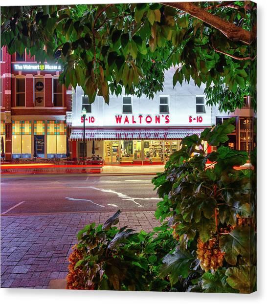 Where It All Began - Sam Walton's First Store - Bentonville Arkansas Canvas Print