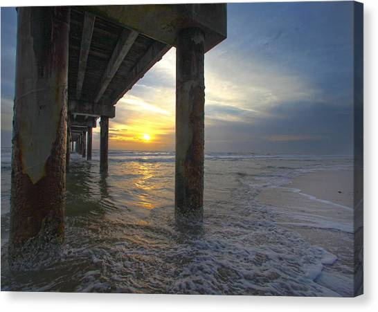 Where The Sand Meets The Surf Canvas Print