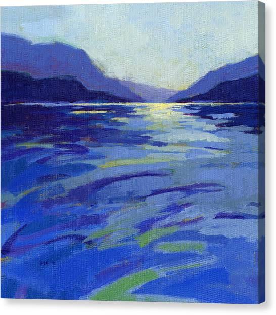 Where The Whales Play 1 Canvas Print by Konnie Kim