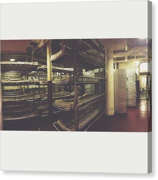 Battleship Canvas Print - Where They Slept #battleship by Courtney Stokes