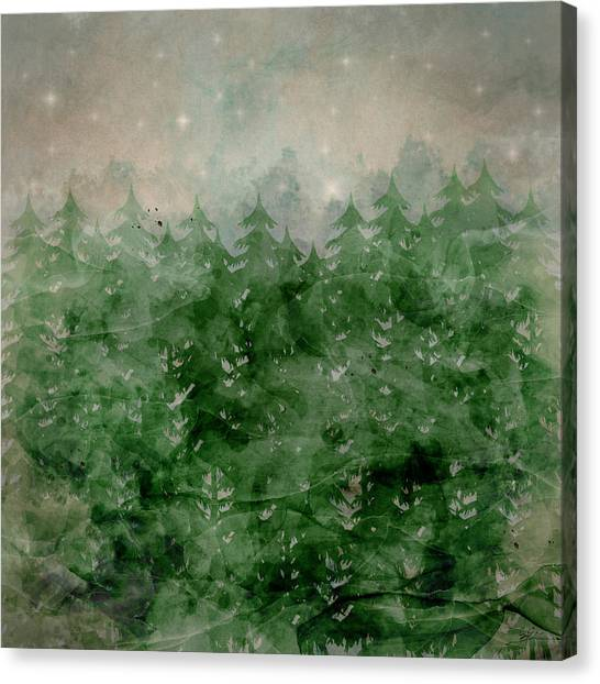 Fir Trees Canvas Print - Where Wild Stars Fall  by Bri Buckley