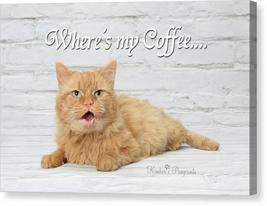 Where's My Coffee? Canvas Print