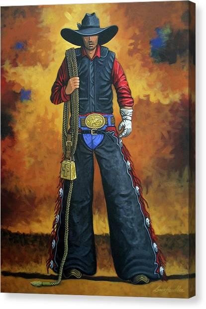 Cowboys Canvas Print - Where's My Ride by Lance Headlee