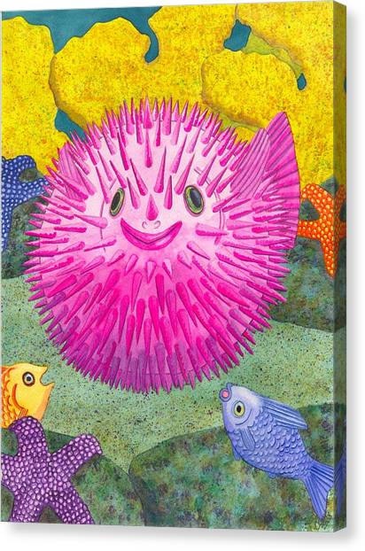 Coral Reefs Canvas Print - Where's Pinkfish by Catherine G McElroy