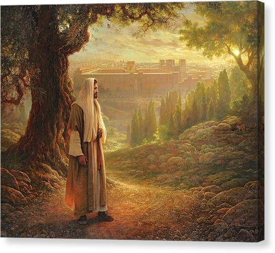 Back Canvas Print - Wherever He Leads Me by Greg Olsen