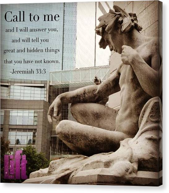 Mercy Canvas Print - While Jeremiah Was Still Confined In by LIFT Women's Ministry designs --by Julie Hurttgam