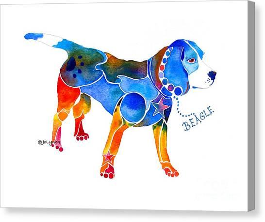 Whimsical Beagle Canvas Print