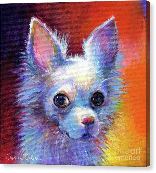 Chihuahuas Canvas Print - Whimsical Chihuahua Dog Painting by Svetlana Novikova