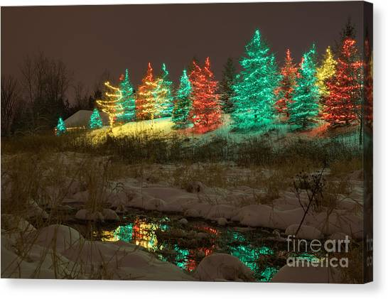 Whimsical Christmas Lights Canvas Print