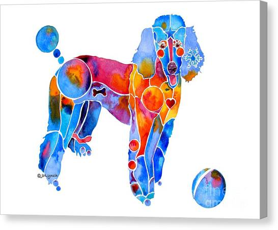 Whimsical French Poodle Canvas Print