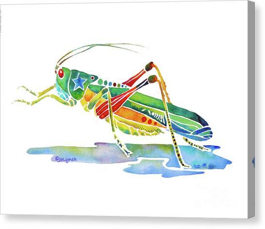 Whimsical Grasshopper  Canvas Print