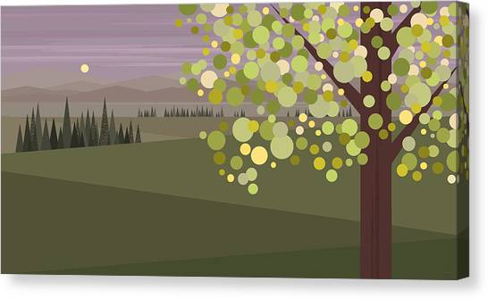 Whimsical Green Tree Canvas Print