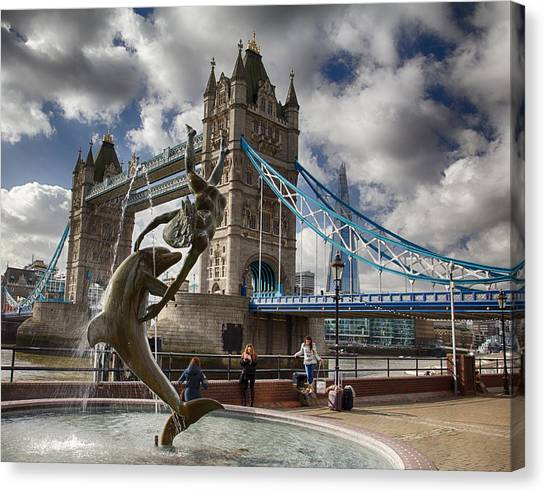 Whimsy At Tower Bridge Canvas Print